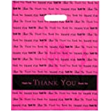"12x15 Hot Pink ""Thank You"" Die Cut Handle Plastic Bags 50/cs - Bags Direct Brand"