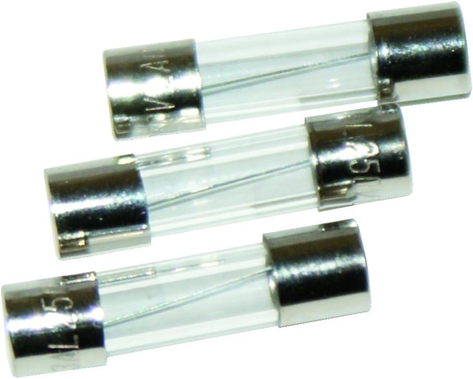 10 Fusibles Verre 6 x 32 mm Puissance 1,6 Ampére