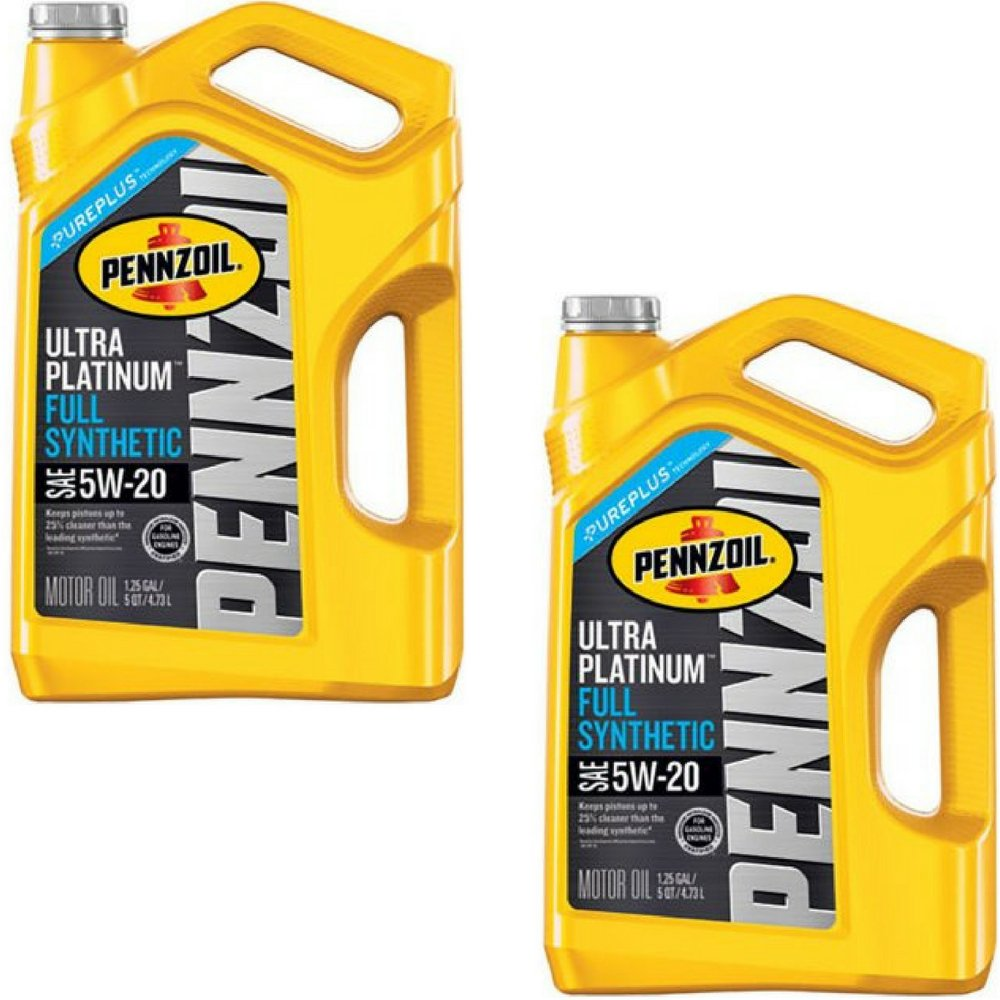 Pennzoil 550045202 Ultra Platinum 5 quart 5W-20 Full Synthetic Motor Oil (SN/GF-5 jug) (2 Pack)