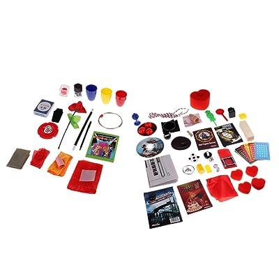 sharprepublic 38pcs Magic Kit - Principiantes Trucos De Magia Fáciles para Niños, Niños, Adultos, Juegos Divertidos: Juguetes y juegos