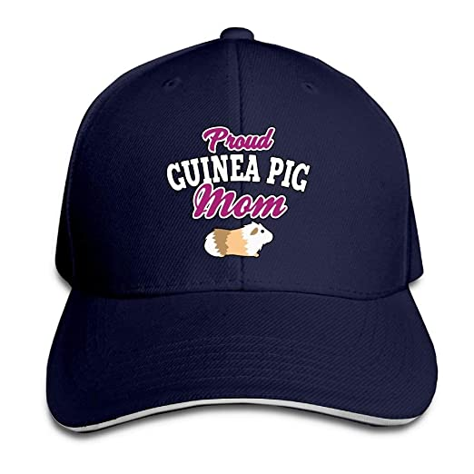 86d894db2e9 Image Unavailable. Image not available for. Color  Ausy Men s Women s  Sports Outdoor Baseball Cap Sandwich Proud Guinea Pig Mom Trucker Hat