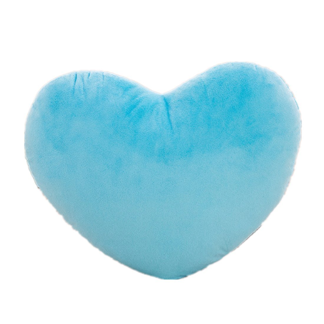 Valentine's Day gift, Winzik Plush love heart Throw pillows,for kids car home bedroom sofa decoration,15L11.8W (BLUE) by Winzik (Image #1)