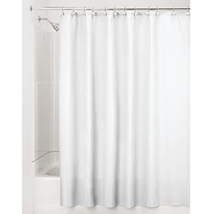 InterDesign York Waffle Weave Shower Curtain U2013 Mold U0026 Mildew Resistant  Hotel Weight Bathroom Curtain,