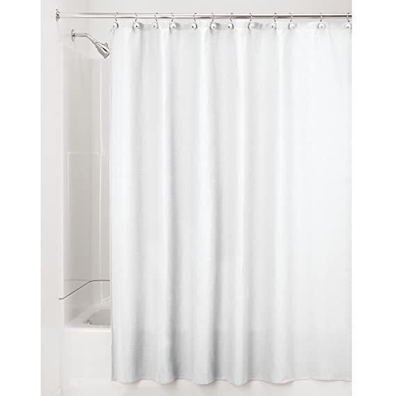 InterDesign York Shower Curtain 54x78 Inch White Inc 20410 Christmas Gift Ideas