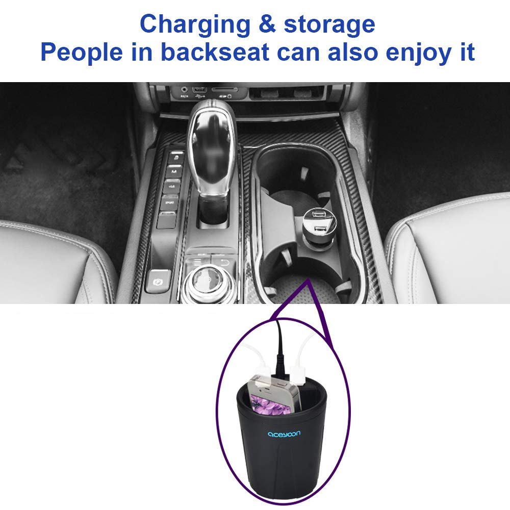 aceyoon Accendisigari USB Fast Charge Quick Charge 3.0 3 Porte Caricabatterie Auto Volmetro 5V 3.1 A 80W Car Charger LED Display Compatibile per i-Phone Pad Huawei e Altri Dispositivi Android