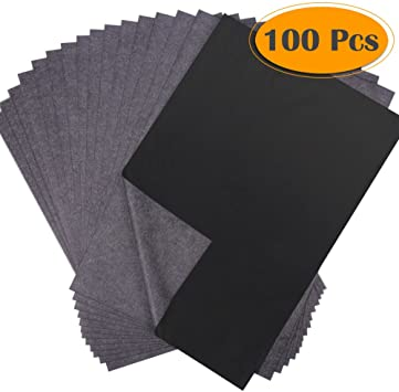 """Transfer Paper 8.5/"""" x 11/"""" Carbon Tracing Black Sheet For Wood Canvas 30-Pieces"""