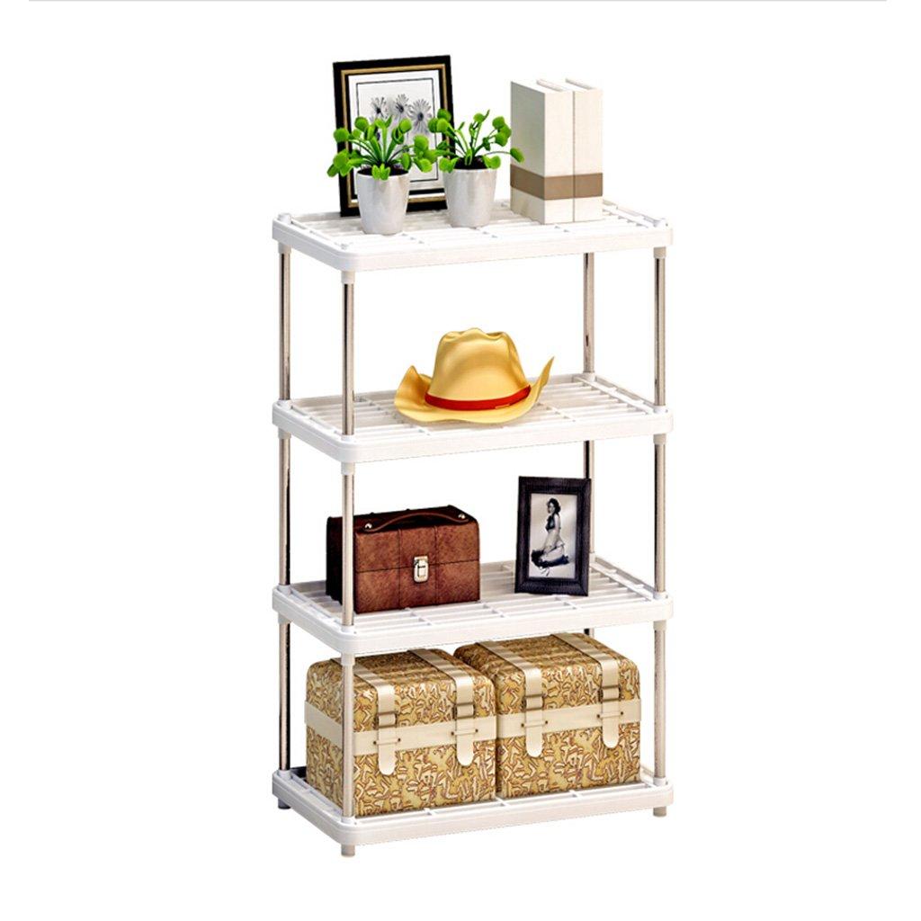 AJZGF Rack di stoccaggio a 4 fili e scaffale per cucina, soggiorno, bagno Ripiani