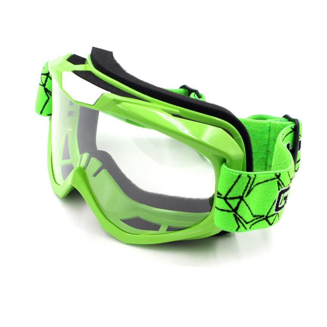 BAOYIT Motorcycle Goggles Off-Road Equipment Outdoor Riding Windproof Skiing Eye Protection Sand-Proof Glasses for Women Men (Color : Green) by BAOYIT