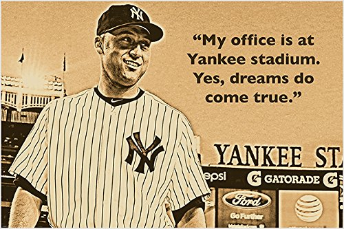 derek jeter Quote Photo Poster my office is at Yankee Stadium. hot
