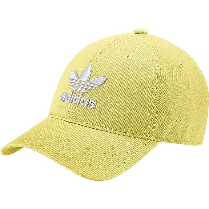adidas Trefoil Cap Gorra de Tenis, UN, LIMAOI/Blanco, OSFM: Amazon.es: Deportes y aire libre