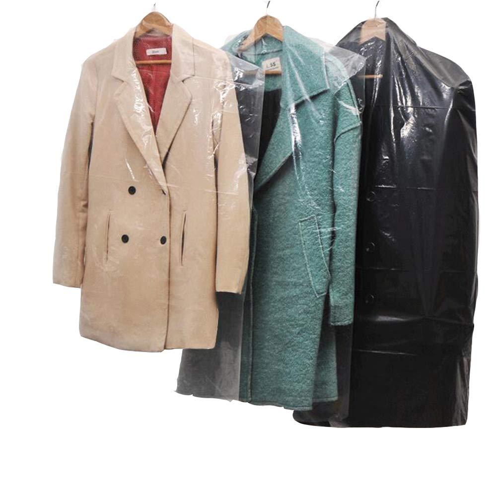 80pcs Dust Cover Garment Storage Organizer Bag Wardrobe Hanging Clothes (80pcs)