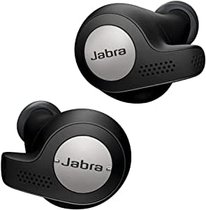 Jabra Elite Active 65t Earbuds – True Wireless Earbuds with Charging Case, Titanium Black – Bluetooth Earbuds with a Secure Fit and Superior Sound, Long Battery Life and More