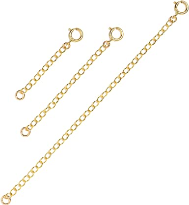 Extension chain Extender in Rose Gold Filled Extender in Gold filled Extender in Sterling silver 1-3 adjust Extender Necklace Extender