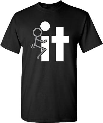 FCk It Offensive rude mens novelty gag gift very funny T Shirt L Black