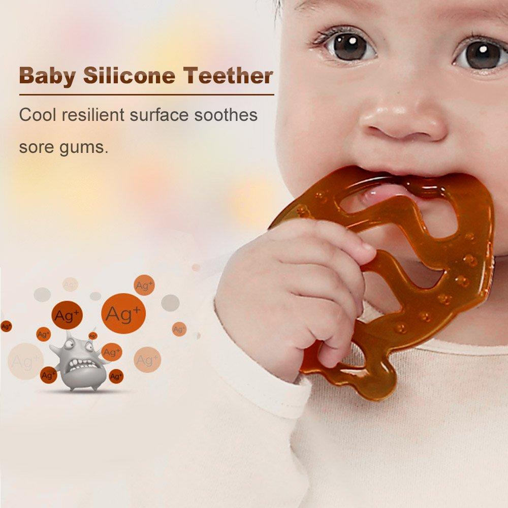 Goolsky Chupete Silicona en Forma de Pez para Bebé