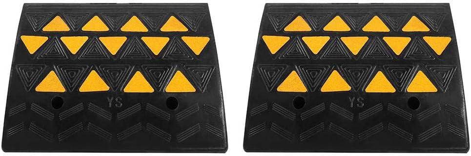 pezzi in gomma resistente Rampa in gomma 49/x 37/x 15.5/cm rampe vialetto soglia rampa per auto veicolo moto sedia a rotelle