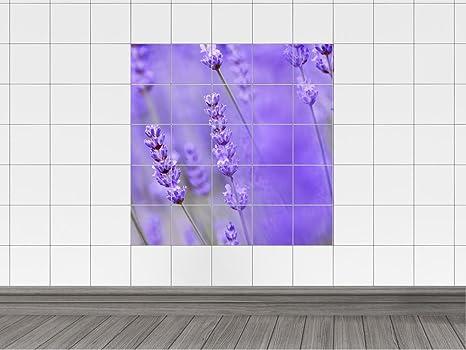 Piastrelle adesivo piastrelle immagine fiori di lavanda in lavanda