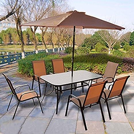 Scotrade Juego de muebles de jardín Corfu de 8 piezas para ...