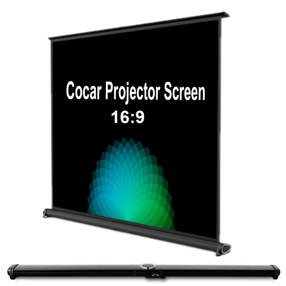 Cocar 50'' Portable Movie Screen 16:9 for Mini/Professional LED/LCD/DLP Projector Self Standing Installation Free Pull-Out Style Indoor Outdoor Home Cinema 3D 4K HD Movie ¡­ by Cocar