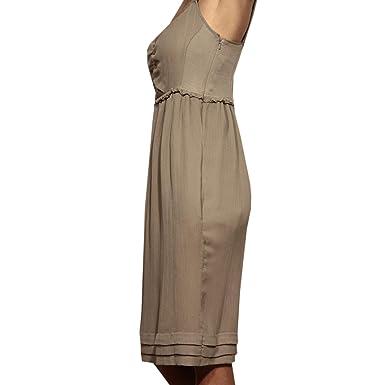 Dress Seta 83232 Brit Donna Vestito Burberry Abito 40 Women wFBqx4FYP