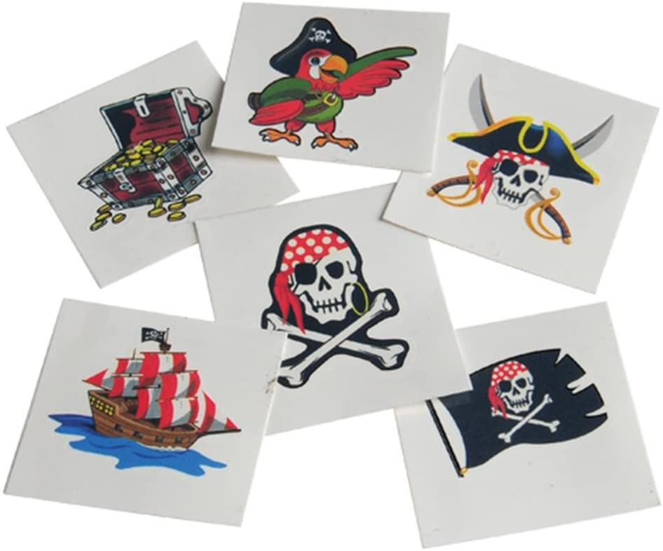 U.S Toy Lot Of 36 Halloween Theme Assorted Color Pirate Eye Patches US Toy