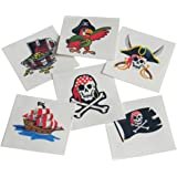 U.S. Toy Pirates Childrens Temporary Tattoos