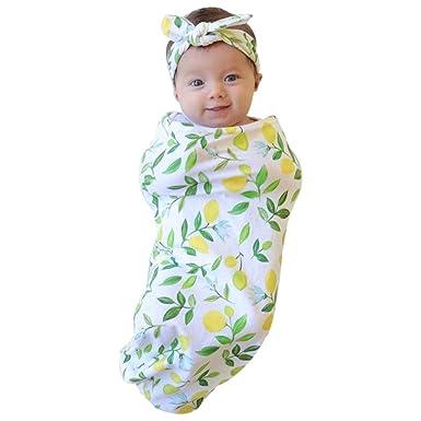 URSING Neugeborenes Kind Baby Blumen Drucken Sleeping Swaddle ...