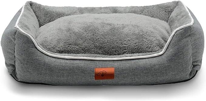 犬用 猫用 ペット ベッド スクエアベッド グレー WARMPETHO(L)
