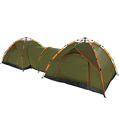 RT Green Instant Pop Up Automatic Shelter Double Passageway Outdoor Tent: Garden & Outdoor