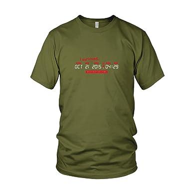 BTTF: I survived Destination Time - Herren T-Shirt, Größe: S,
