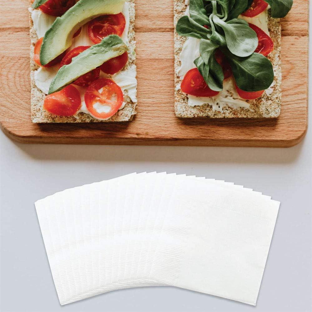 Amazon Com Jam Paper Small Beverage Napkins 5 X 5 White 50 Pack Kitchen Dining