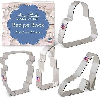 Juego de cortadores de galletas con libro de recetas, 4 ...