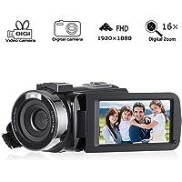 "Camcorder Video Digital, Cozime Camera Full HD 1080p Camera 24.0MP Digital Camera 3.0"" IPS LCD Screen 270° Rotation Screen"