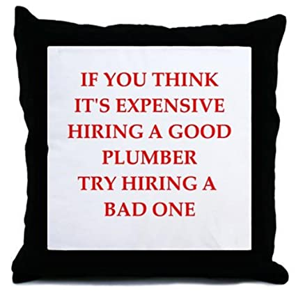 Amazon Com Cafepress Plumber Decor Throw Pillow 18 X18 Home