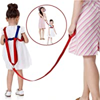 Toddler Leash & Harness for Child Safety,2 in 1 Anti Lost Wrist Link Baby Walking Harness for 0-5 Years Kids (Blue&Red)