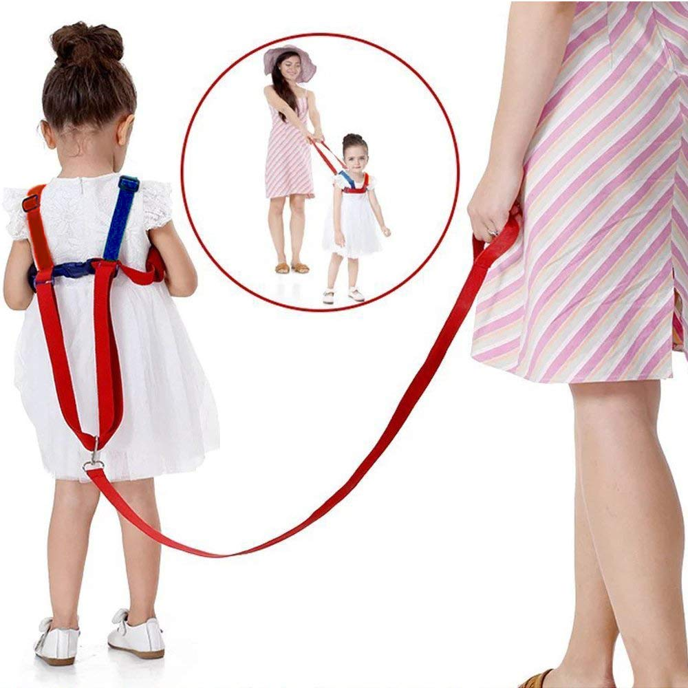 Red euwanyu Baby Anti-Loss Belt Children/'s Safety for Children of 0-5 Years 2 in 1 Kids Walking Safety Harness Safety Harnesses Wrist Link Wrist Leash Red//Blue Strap and Hand Belt