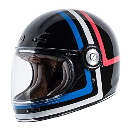 TORC T1 Retro Fiberglass Full-Face-Helmet-Style Motorcycle Helmet with Graphic (