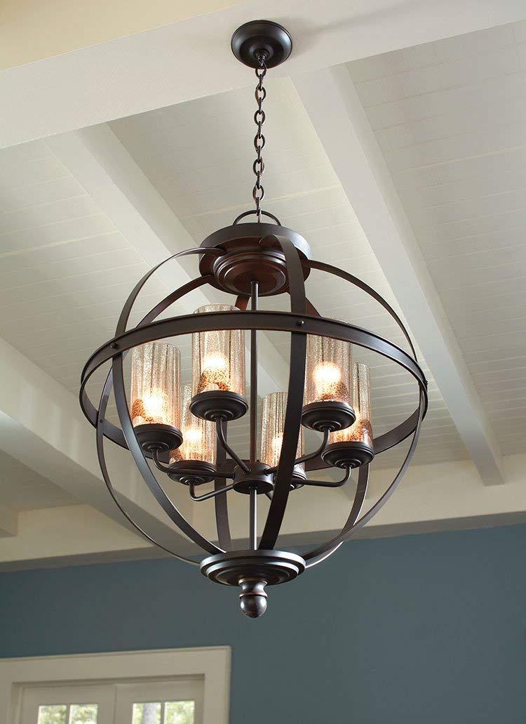 Amazon.com: Sea Gull Lighting 3110406 Sfera 6 luz – lámpara ...