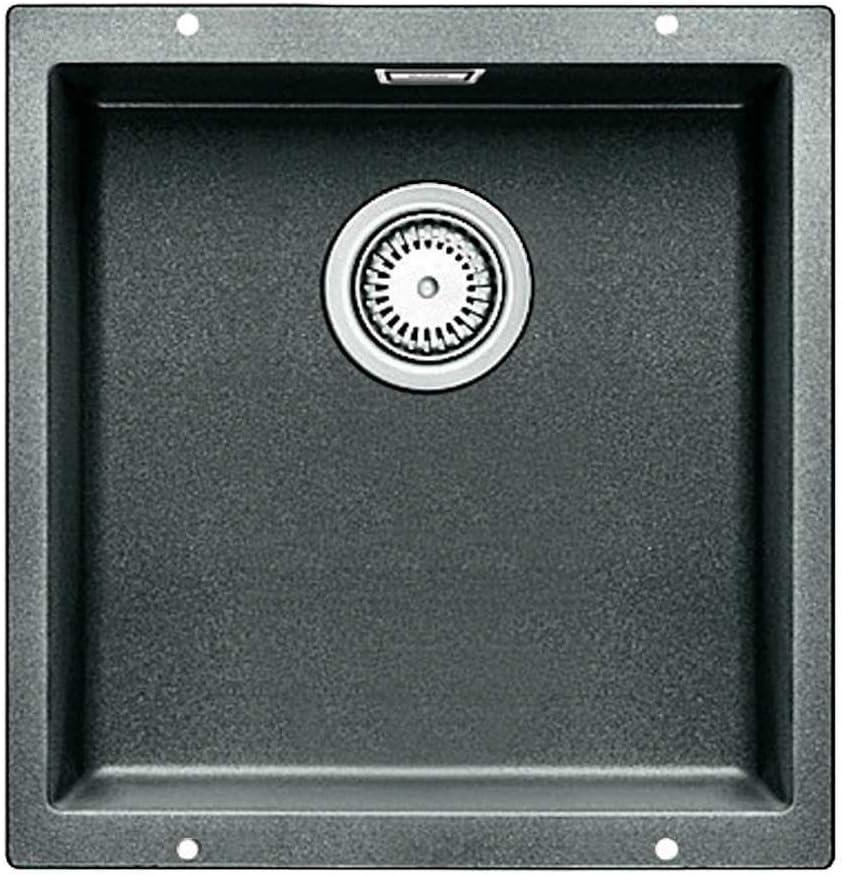 BLANCO SUBLINE 400-U 1 senos, 400 x 400 mm, 19 cm Fregadero