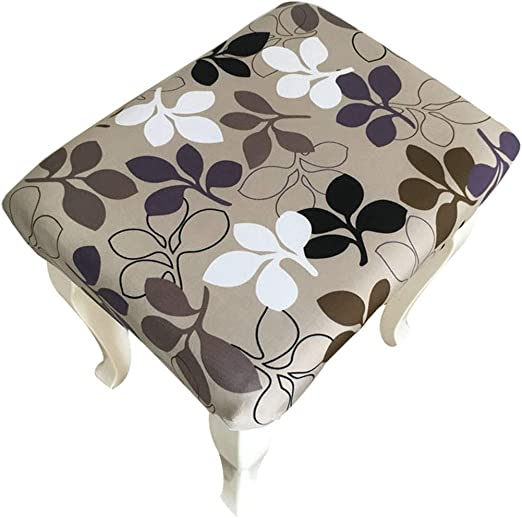 Enerhu Stool Cover Rectangle Chair Seat Slipcover Stretchable Barstool Cover for Rectangle Stool Beige One Size
