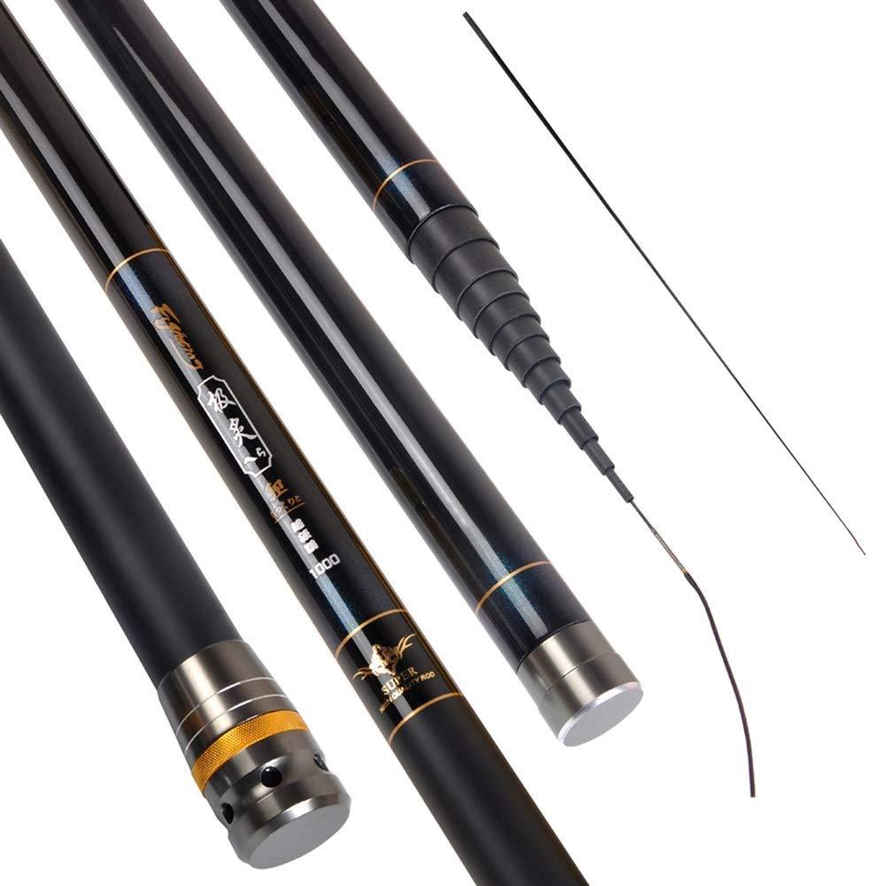 Color : Gold, Size : 8m Fishing Rod Telescopic High Carbon Fishing Pole Ultra-light Pole 2//8 Tonal Carp Stream Rod 8M-12M