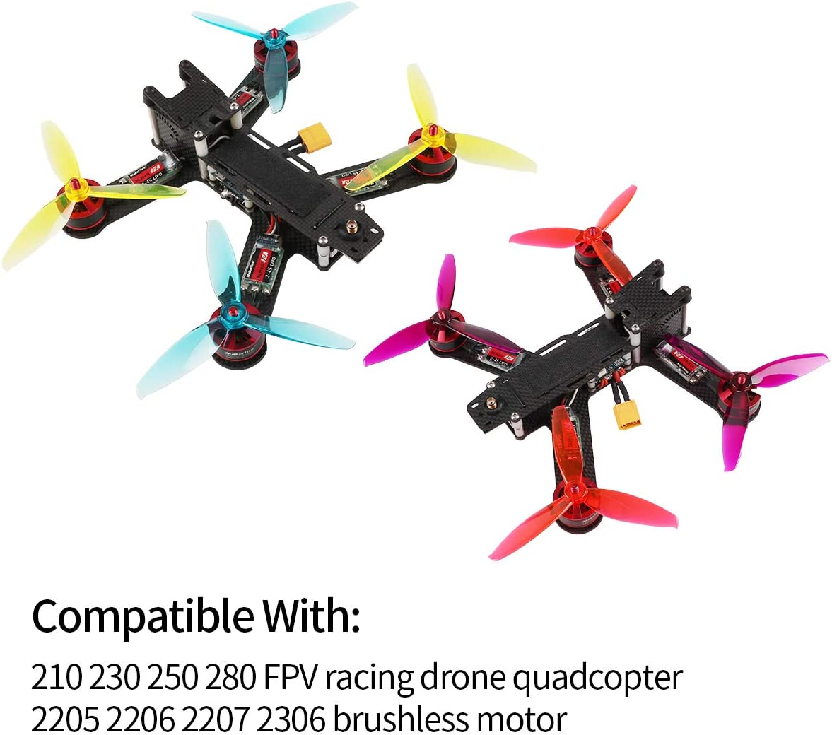 "16pcs Gemfan 5/"" 3-Blade Propeller WinDancer 5043 Tri-Blade for Drone Quadcopter"
