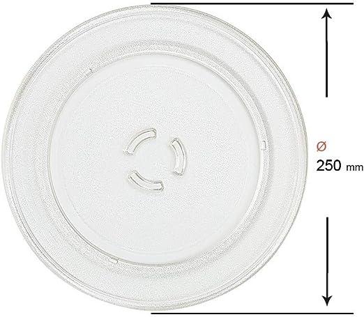 Recamania Plato microondas 250mm 481246678412: Amazon.es
