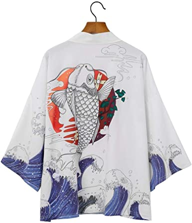 LYH Kimono Cardigan Hombres Japonés OBI Masculino Yukata ...