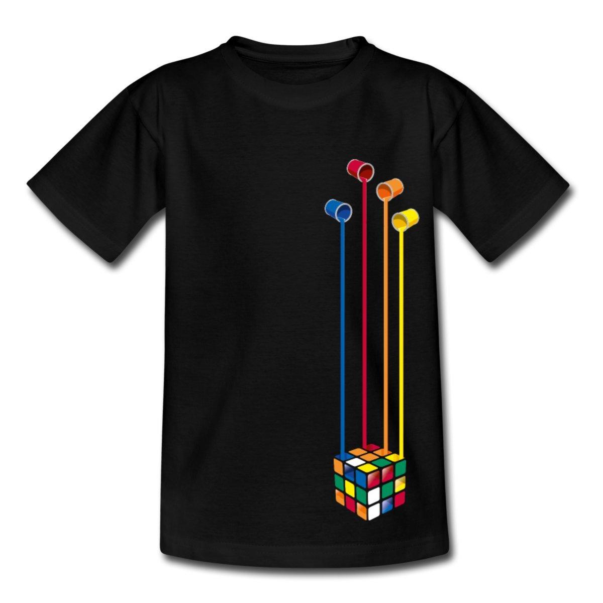 Spreadshirt Rubik's Cube Colourful Paint Buckets Teenage T-Shirt S205909-A108761292-1
