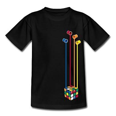 97420ca5f61dd Spreadshirt Rubik s Cube Peinture Seaux À Couleurs T-Shirt Ado  Amazon.fr   Vêtements et accessoires