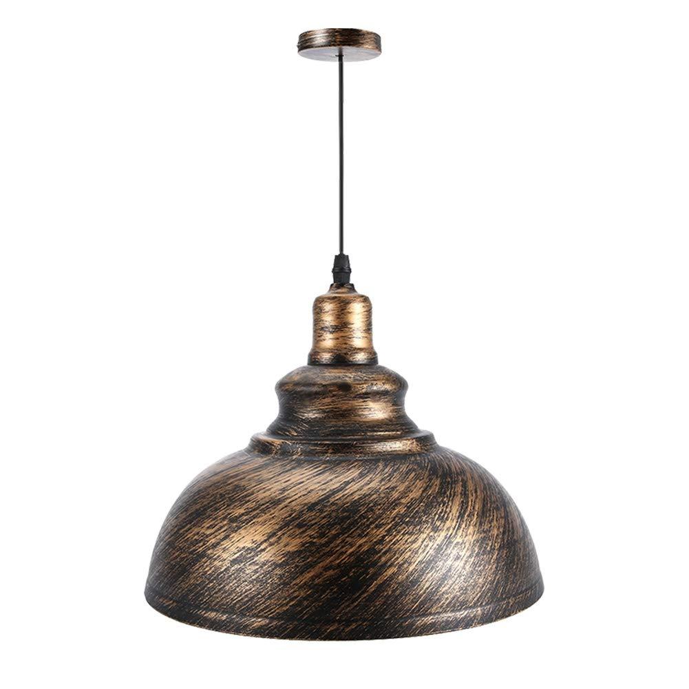 koulate E27 Retro Pendant Light Shade Vintage Industrial Ceiling Lighting LED Restaurant Loft Lamp Shade for Coffee-Shop & Restaurants (2#)