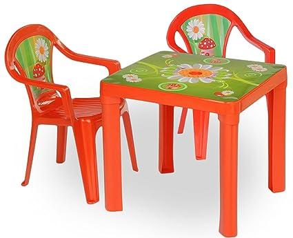 3 horses - Niños Mobiliario de jardín mesa sillas nevera Set ...