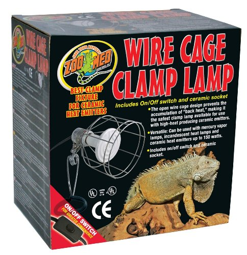 611zn0CpOjL - Zoo Med Wire Cage Clamp Lamp