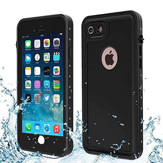 sneakers for cheap bf3cc 632a3 iPhone 7 & iPhone 8 Waterproof Case, Besinpo Underwater 6.6ft 30 Minutes  Full Body Cases, Military Grade Protective Cover (4.7 inch Only,Black)